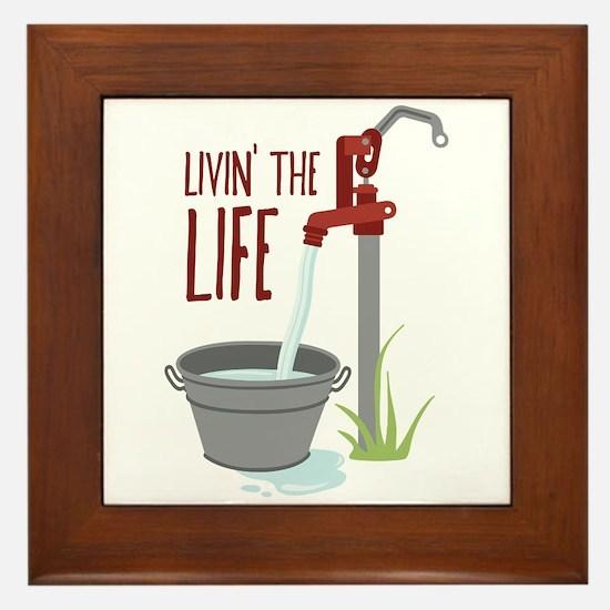 LIVIN THE LIFE Framed Tile