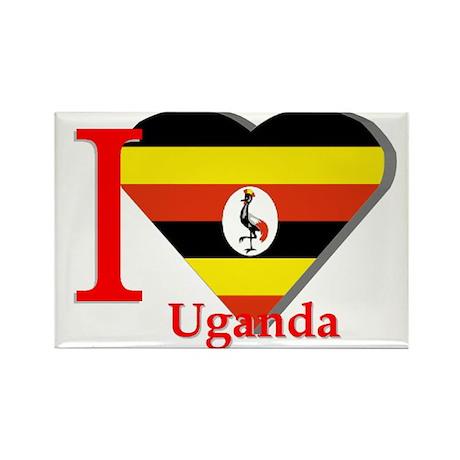 I love Uganda Rectangle Magnet