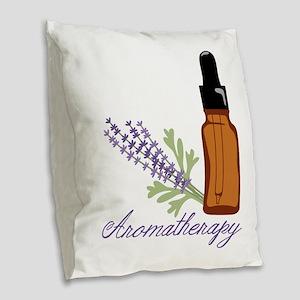 Aromathenapy Burlap Throw Pillow