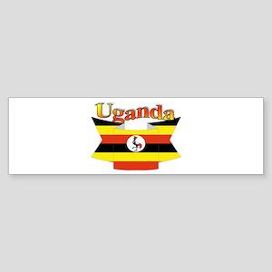 Ugandan ribbon Sticker (Bumper)