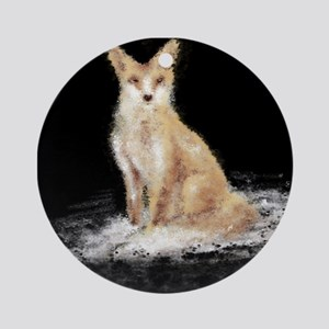 The Lonely Fox Ornament (Round)
