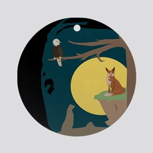 Silence Night by the Fox and the Eagle Ornament (R