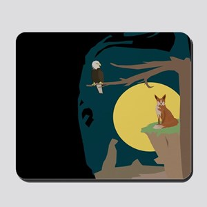 Silence Night by the Fox and the Eagle Mousepad
