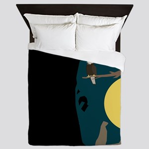 Silence Night by the Fox and the Eagle Queen Duvet