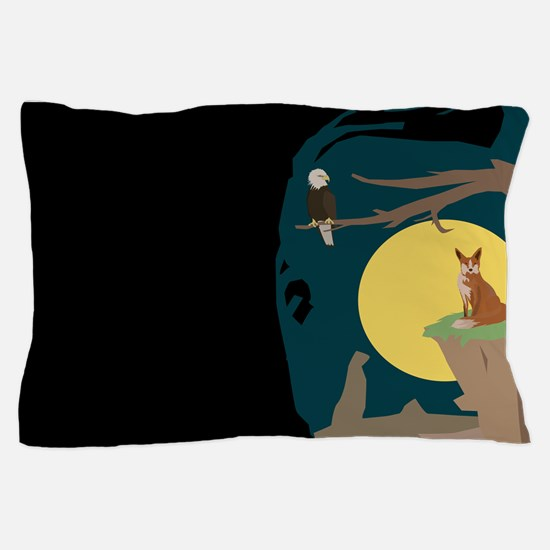 Silence Night by the Fox and the Eagle Pillow Case