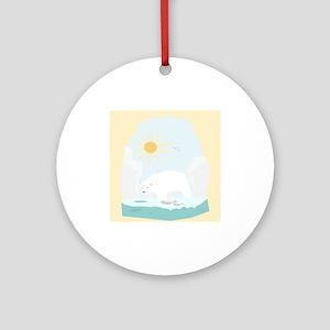 The Polar Bear 2 Ornament (Round)
