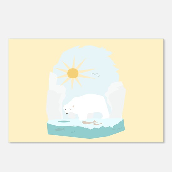The Polar Bear 2 Postcards (Package of 8)