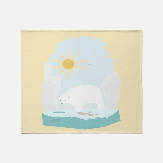 The Polar Bear 2 Throw Blanket