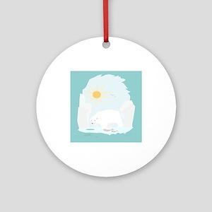 The Polar Bear Ornament (Round)