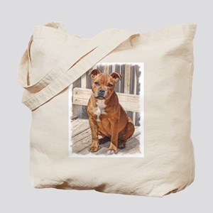 Staffordshire Bull Terrier Puppy Tote Bag