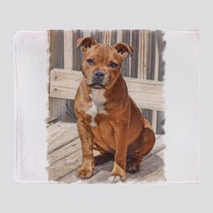 Staffordshire Bull Terrier Puppy Throw Blanket