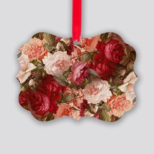 Floral Pink Roses Ornament