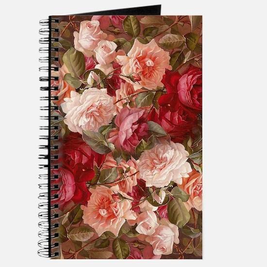 Floral Pink Roses Journal