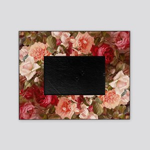 Floral Pink Roses Picture Frame