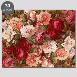 Floral Pink Roses Puzzle