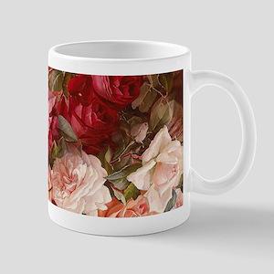 Floral Pink Roses Mugs