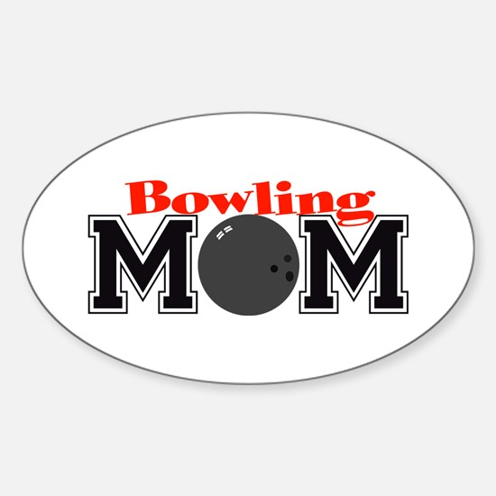 Bowling Mom Oval Decal