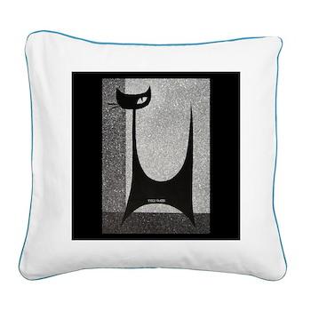 Retro Mid Century Square Canvas Pillow