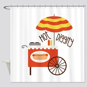 Hot Diggity Shower Curtain