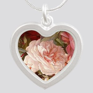 Floral Pink Roses Necklaces
