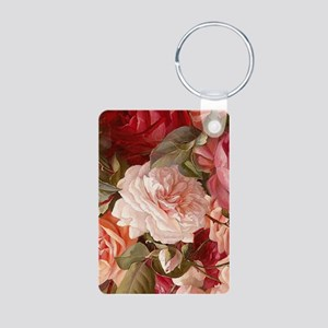 Floral Pink Roses Keychains