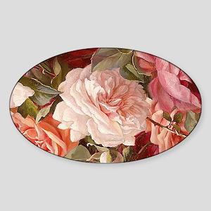 Floral Pink Roses Sticker