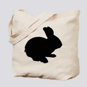 Black Silhouette Easter Bunny Tote Bag