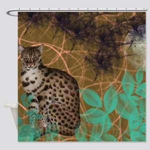 Jungle Cat Scene Shower Curtain
