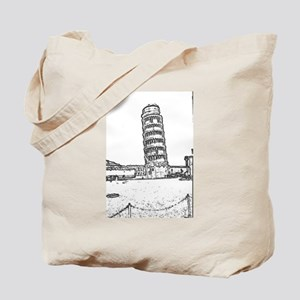 The Leaning Tower Of Pisa Tote Bag