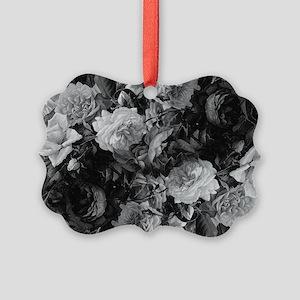 Floral Grey Roses Ornament