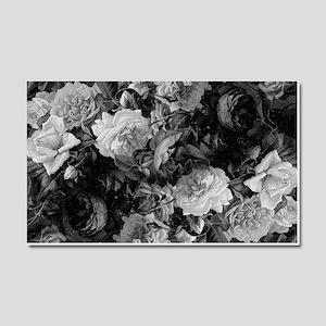 Floral Grey Roses Car Magnet 20 x 12