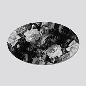 Floral Grey Roses Wall Decal