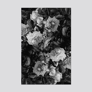 Floral Grey Roses Posters