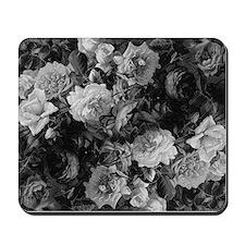 Floral Grey Roses Mousepad