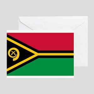 Vanuatu flag Greeting Cards (Pk of 10)