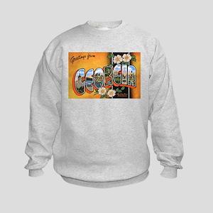 Georgia Greetings (Front) Kids Sweatshirt