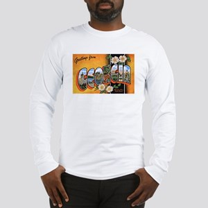Georgia Greetings (Front) Long Sleeve T-Shirt