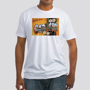 Georgia Greetings (Front) Fitted T-Shirt