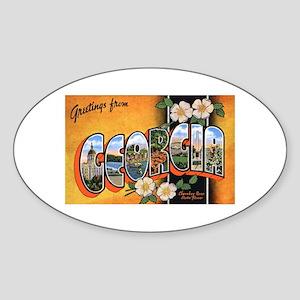 Georgia Greetings Oval Sticker