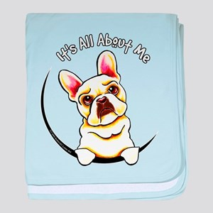 Fawn Frenchie IAAM baby blanket