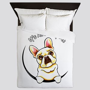 Fawn Frenchie IAAM Queen Duvet