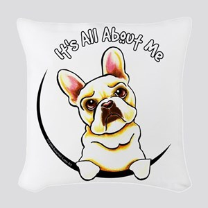 Fawn Frenchie IAAM Woven Throw Pillow