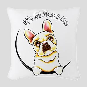 Fawn Frenchie IAAM Woven Throw Pillow