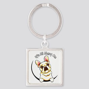 Fawn Frenchie IAAM Square Keychain