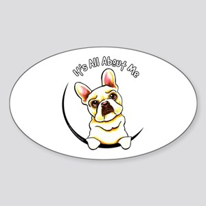 Fawn Frenchie IAAM Sticker (Oval)