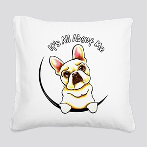 Fawn Frenchie IAAM Square Canvas Pillow