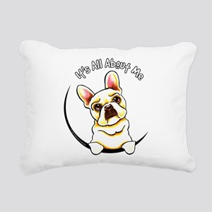 Fawn Frenchie IAAM Rectangular Canvas Pillow
