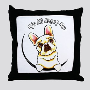 Fawn Frenchie IAAM Throw Pillow
