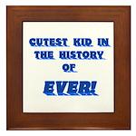 Cutest Kid-Blue Framed Tile