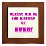 Cutest Kid-Pink Framed Tile